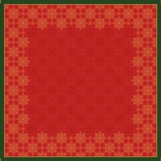 Ubrus 84x84 DSilk Xmas Deco Red omyvat | Duni - Ubrusy, šerpy, prostírky - Omyvatelný ubrus