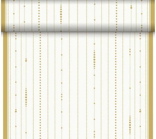 Téte-a-Téte 0.4x24m Festive Cheers White | Duni - Ubrusy, šerpy, prostírky - Šerpy