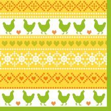 Ubrousek 33x33 3V Easter Knit 20ks | Duni - Ubrousky, kapsy na příbory - 3 vrstvé ubrousky