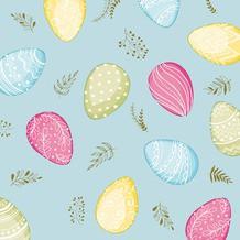 Ubrousek 33x33 3V Pastel Eggs 20ks | Duni - Ubrousky, kapsy na příbory - 3 vrstvé ubrousky