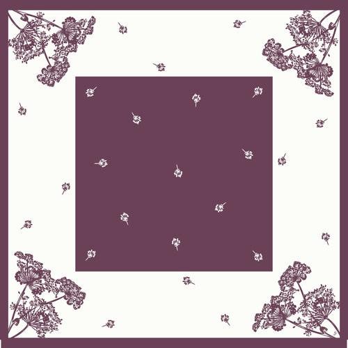 Ubrus 84x84 Dsilk Yarrow omyvatelný | Duni - Ubrusy, šerpy, prostírky - Omyvatelný ubrus
