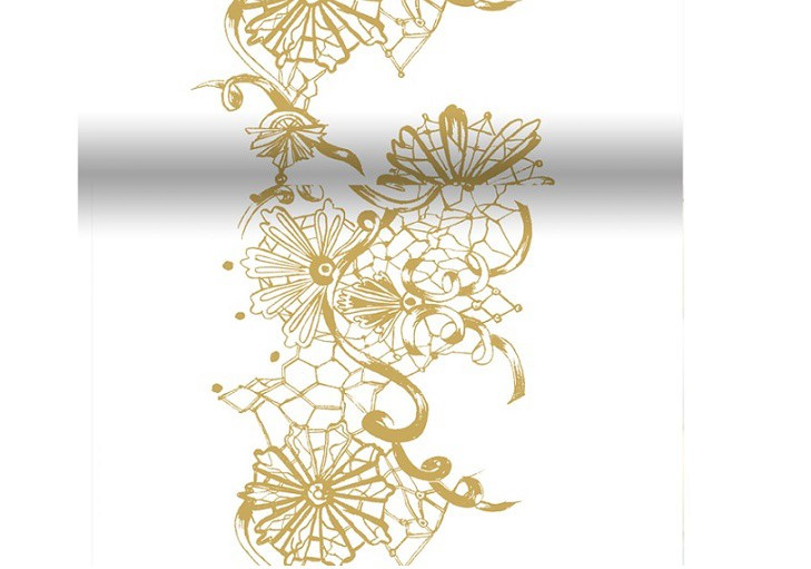 Téte-a-Téte 0,4x 4,8m Dolce Vita Gold   Duni - Ubrusy, šerpy, prostírky - Šerpy