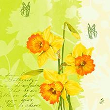 Ubrousek 40x40 D soft Spring Flower 60ks | Duni - Ubrousky, kapsy na příbory - Dunilin 40x40