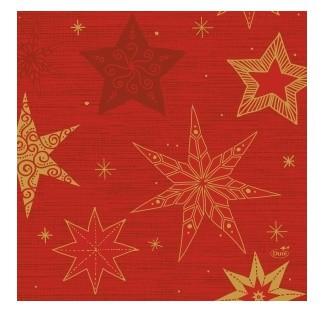 Ubrousek 33x33 3V Star Stories Red 50ks | Duni - Ubrousky, kapsy na příbory - 3 vrstvé ubrousky