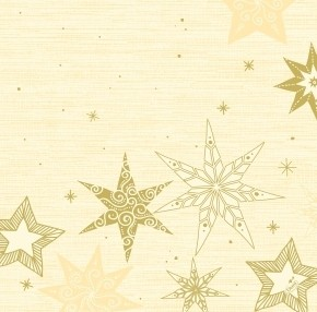 Ubrousek 40x40 Dsoft Star Stories Cream   Duni - Ubrousky, kapsy na příbory - Airlaid 40x40