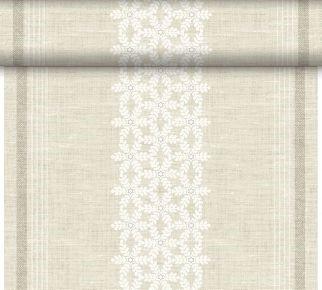 Téte-a-Téte 0.4x24m Linen Snow | Duni - Ubrusy, šerpy, prostírky