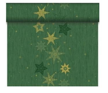 Téte-a-Téte 0.4x24 Star Stories Green | Duni - Ubrusy, šerpy, prostírky - Šerpy