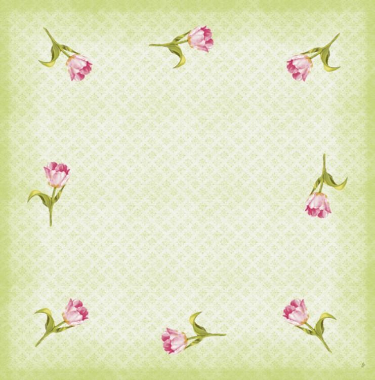 Ubrus 84x84 Dcel Love Tulips neomyvateln | Duni - Ubrusy, šerpy, prostírky - Neomyvatelný ubrus
