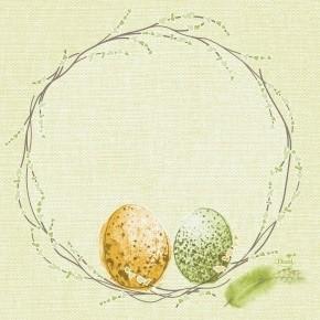 Ubrousek 33x33 3V Easter Pastule 50ks | Duni - Ubrousky, kapsy na příbory - 3 vrstvé ubrousky