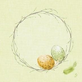 Ubrousek 40x40 Dsoft Easter Pastule 60ks | Duni - Ubrousky, kapsy na příbory - Airlaid 40x40