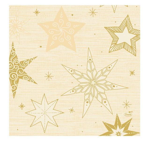 Ubrousek 33x33 3V Star Stories Cream 20k | Duni - Ubrousky, kapsy na příbory - 3 vrstvé ubrousky