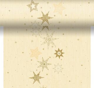 Téte-a-Téte 0,4x4,8m Star Stories Cream | Duni - Ubrusy, šerpy, prostírky - Šerpy