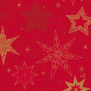 Ubrousek 33x33 3V Star Stories RED 20ks | Duni - Ubrousky, kapsy na příbory - 3 vrstvé ubrousky