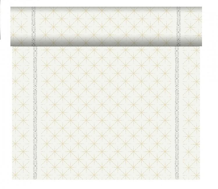 Tete-a-Téte 0,4x24m Glitter White | Duni - Ubrusy, šerpy, prostírky - Šerpy