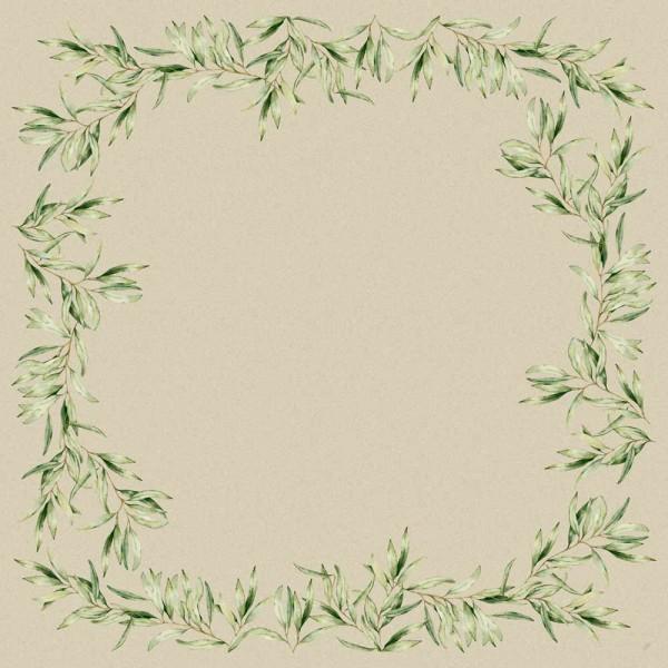 Ubrus 84x84 Dsilk Foliage | Duni - Ubrusy, šerpy, prostírky - Omyvatelný ubrus