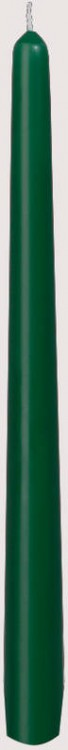 Svíčka 25cm Tmavě zelená 1ks   Duni - Svíčky, svícny, kroužky - Svíčky