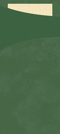 Tissue Sacchetto 8,5x20cm Tm.zelená100ks | Duni - Ubrousky, kapsy na příbory - Kapsy na příbory