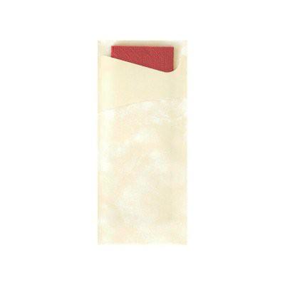 Tissue Sacchetto 8,5x20cm Vanilka 100ks | Duni - Ubrousky, kapsy na příbory - Kapsy na příbory
