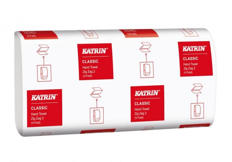 Pap.ručníky Z-Z Bílé 2vrst.3000ks Katrin | Katrin - Skládané ručníky