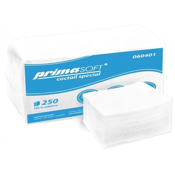 Ubrousek 24x24 2V bílé 250ks | Papírové a hygienické výrobky - Ubrousky - Vícevrstvé