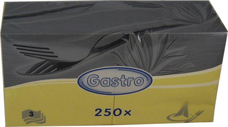 Ubrousek 33x33 3V žluté 250ks | Papírové a hygienické výrobky - Ubrousky - Vícevrstvé