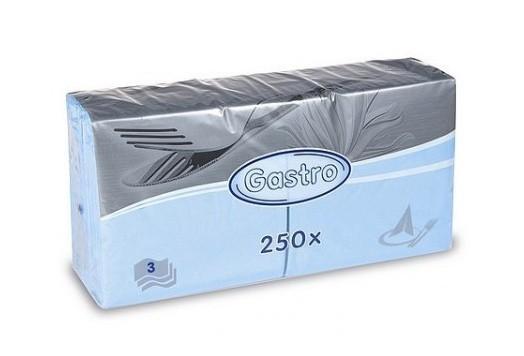 Ubrousek 33x33 3V sv. modré 250ks | Duni - Ubrousky, kapsy na příbory - 3 vrstvé ubrousky