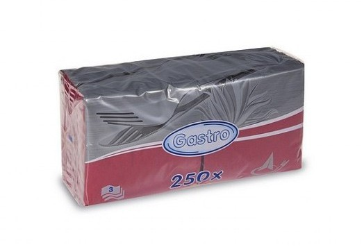 Ubrousky 33x33 3V bordo 250ks | Papírové a hygienické výrobky - Ubrousky - Vícevrstvé